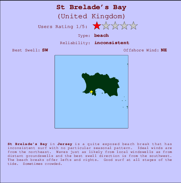 St Brelade's Bay break location map and break info