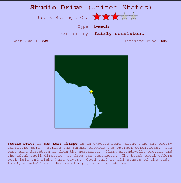Studio Drive break location map and break info