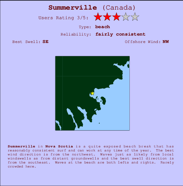 Summerville break location map and break info