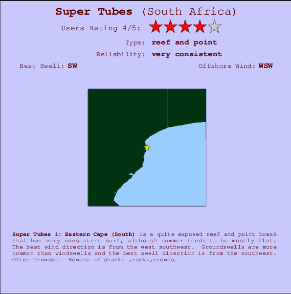 Super Tubes break location map and break info