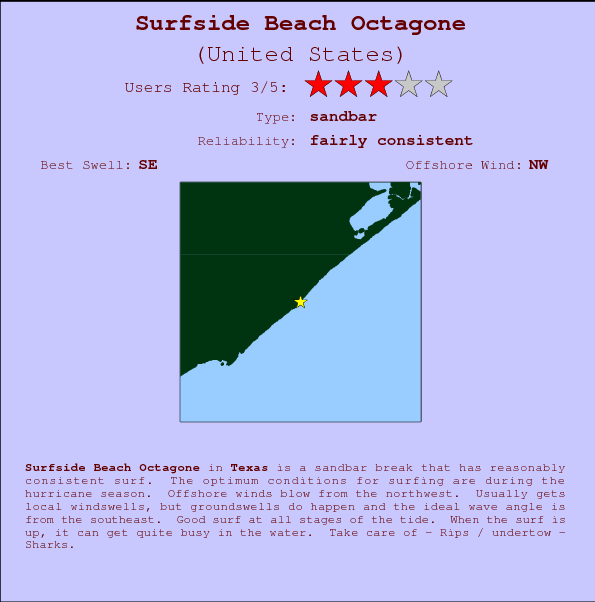 Surfside Beach Octagone Surf Forecast and Surf Reports Texas USA