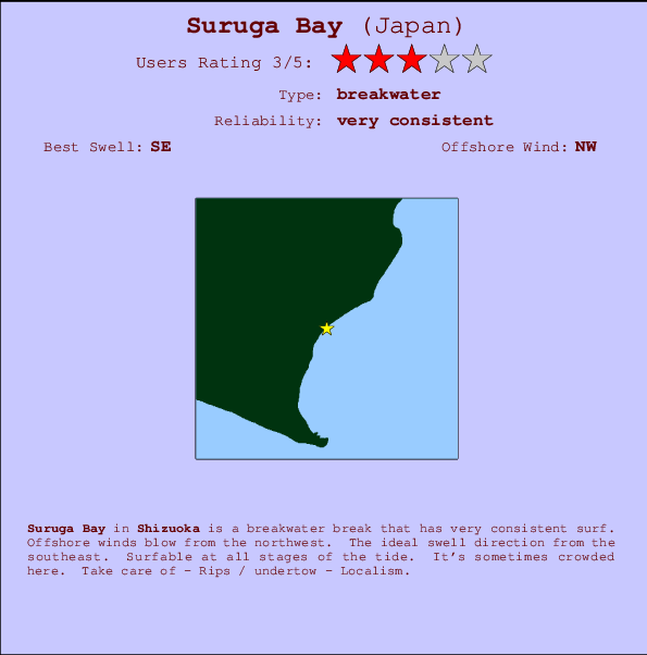 Suruga Bay break location map and break info