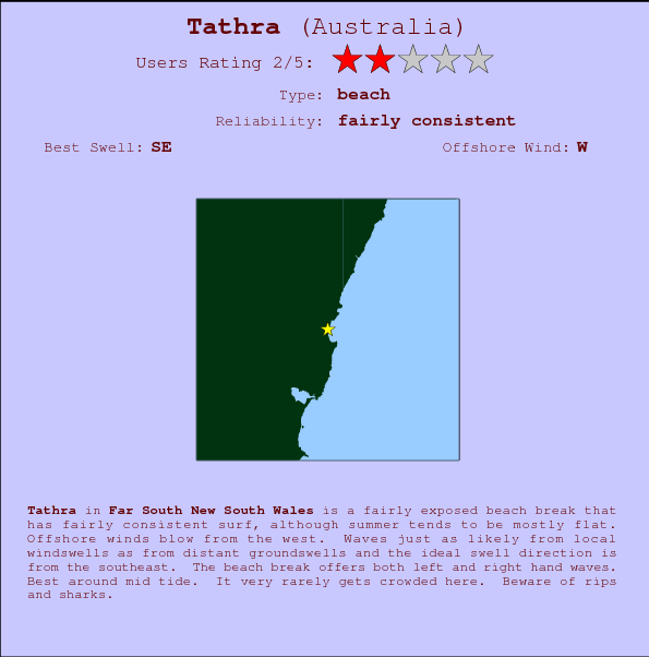 Tathra break location map and break info