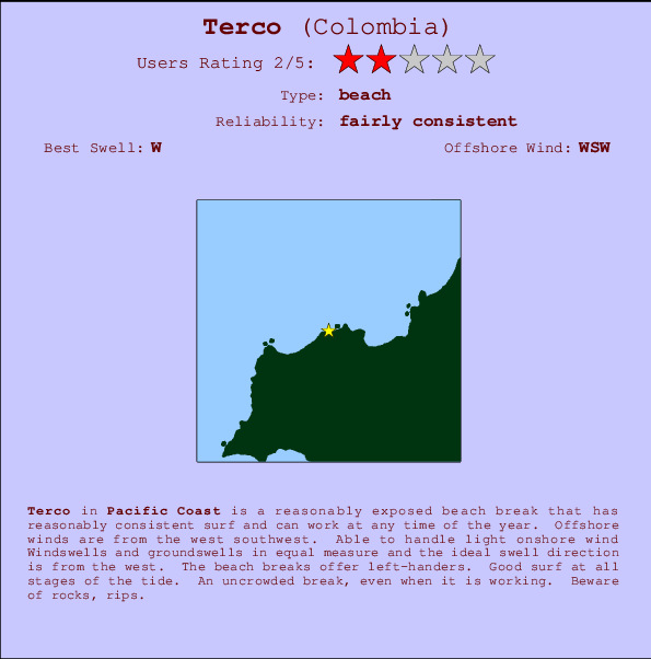 Terco break location map and break info