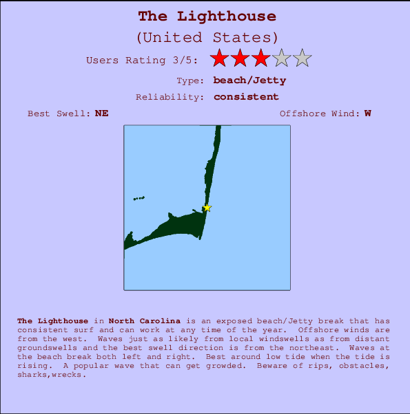 The Lighthouse break location map and break info