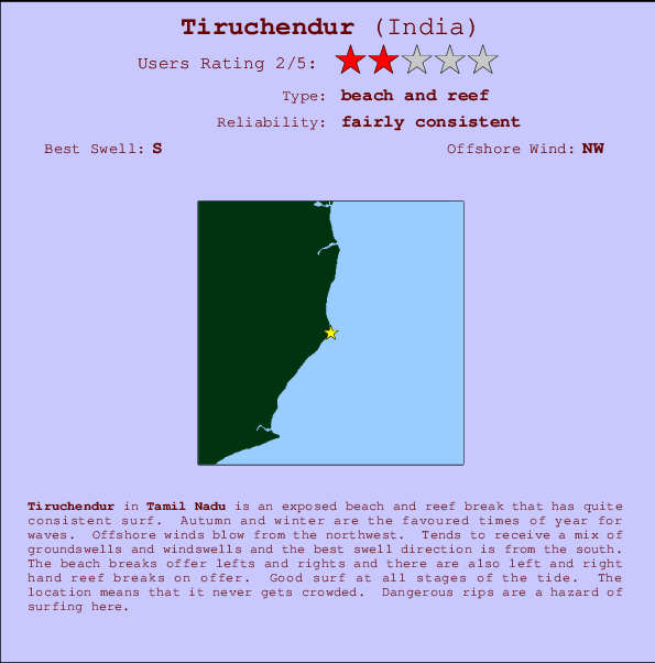 Tiruchendur break location map and break info