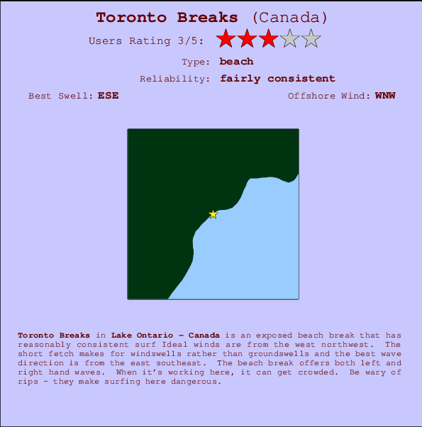 Toronto Breaks break location map and break info