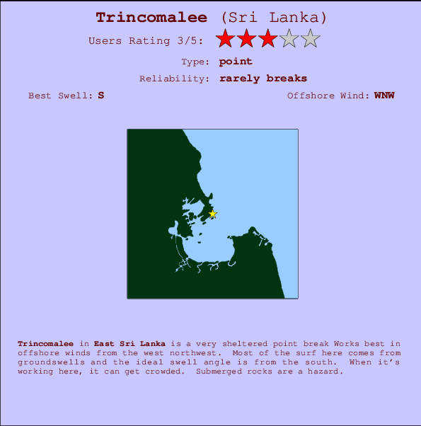 Trincomalee break location map and break info