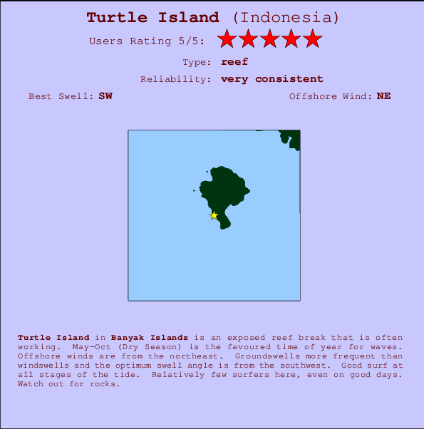 TurtleIsland break location map and break info