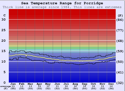 Porridge Water Temperature Graph