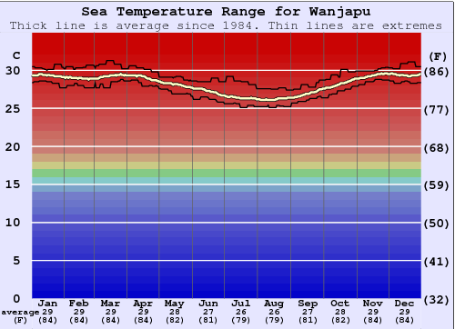 Wanjapu Water Temperature Graph