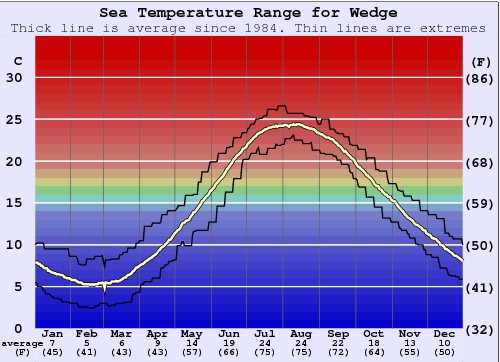 Wedge Water Temperature Graph