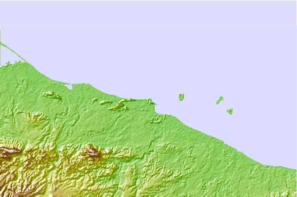 Surf spots located close to Aitape