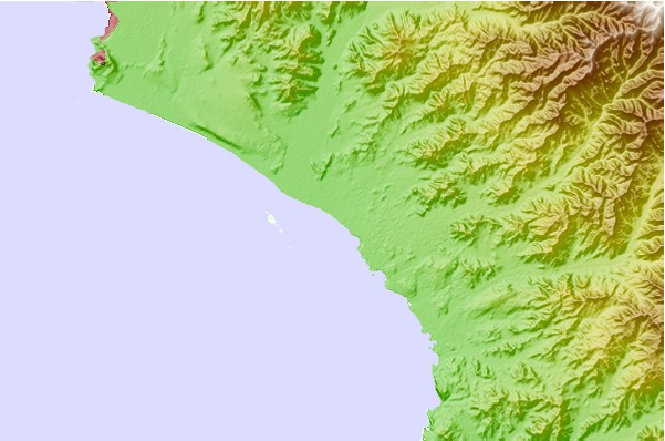 Surf spots located close to Arica