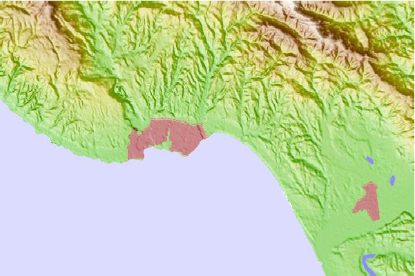 Surf spots located close to Capitola Rivermouth