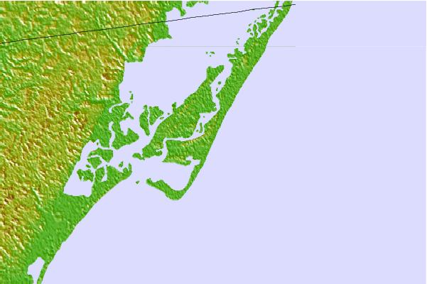 Surf spots located close to Chincoteague