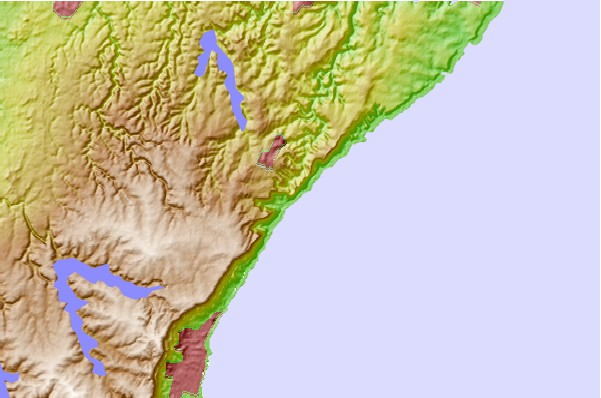 Surf spots located close to Coalcliff