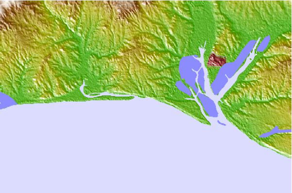 Surf spots located close to El Caño de la Culata