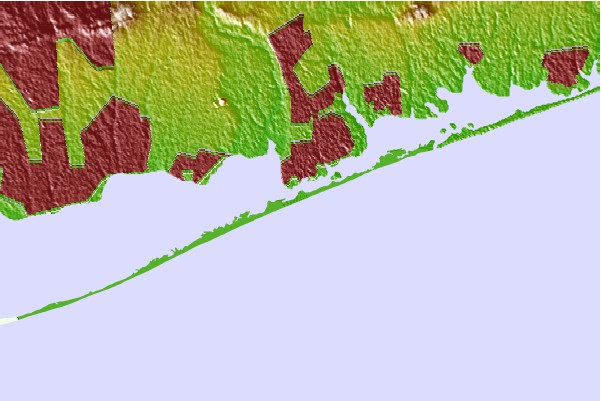 Surf spots located close to Fire Island