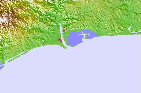 Surf spots located close to Isla Canela