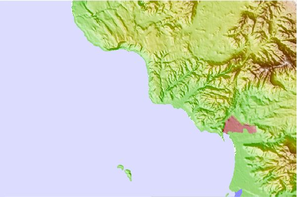 Surf spots located close to Islas de Todos Santos