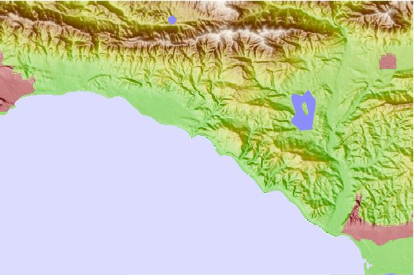 Surf spots located close to La Conchita Beach