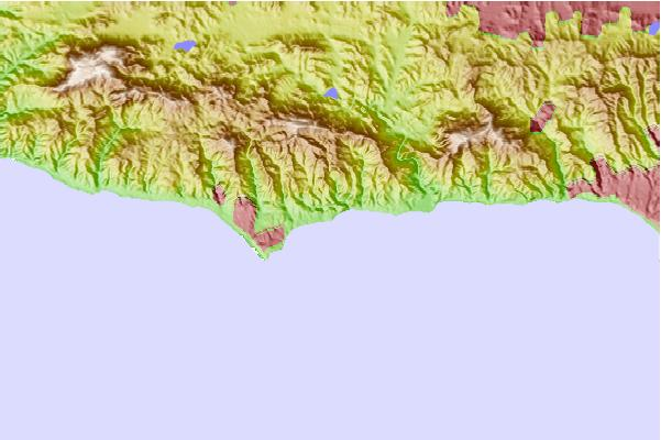 Surf spots located close to Latigo Canyon