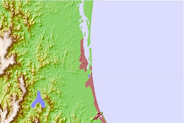 Surf spots located close to Narrow Neck