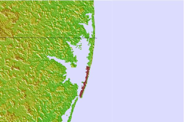 Surf spots located close to Ocean City