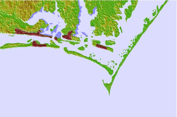 Surf spots located close to Shackleford Banks