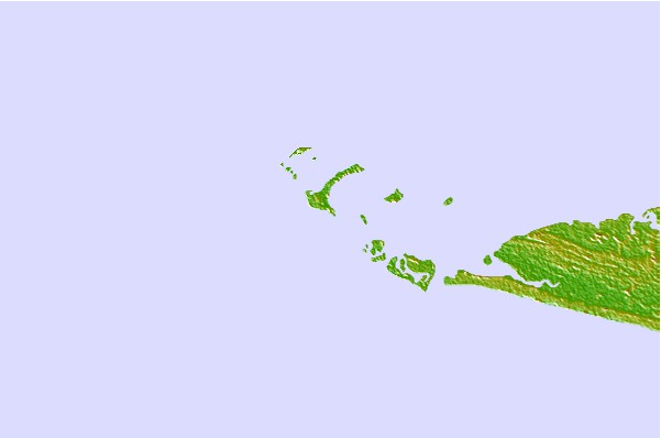 Surf spots located close to Baki (Turtle Islands)