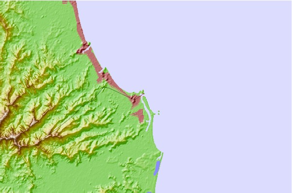 Surf spots located close to Tweed River Breakwall