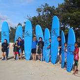Surf to the Max surf school family day, Kudat (Pantai Kosuhui)