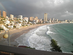 surf en benidorm, Playa Poniente photo