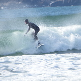 riding a wave, Hirtle's Beach (Hartling Bay)