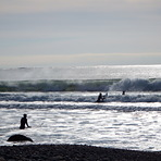 surfers on a Sunday, Hirtle's Beach (Hartling Bay)