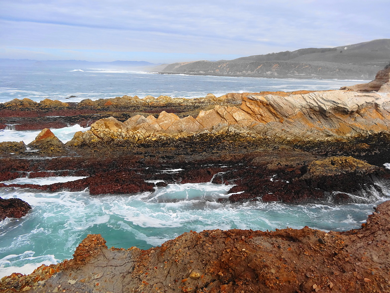 Coastline in break zone, Spooners Cove