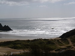 Incoming Neap Tide, Three Cliffs Bay photo