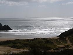Incoming Neap Tide, Three Cliffs Bay photo
