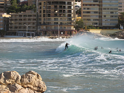 Surf en la Cala de Finestrat, Playa Finestrat photo