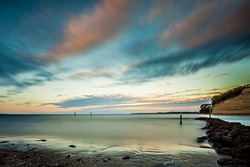 Orewa and dusk, Orewa Beach photo