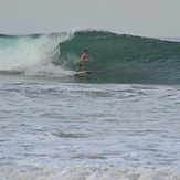 a barrel, Playa Grande