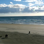 Small swell autumn afternoon, Wharariki Beach