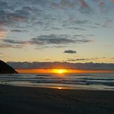 Sunset at Wharariki, Wharariki Beach