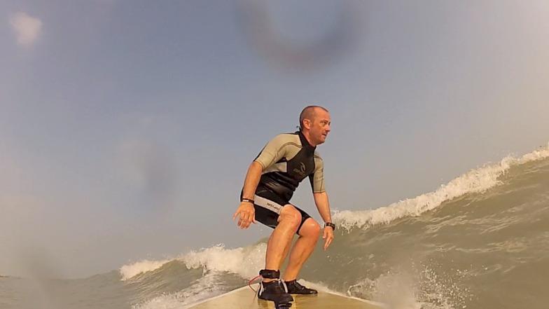 Surfing in Kuwait - between Mangaf & Messilah
