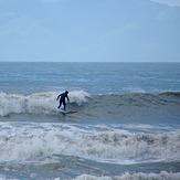 Ragged surf at Ruby Bay