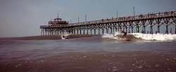 Nice Hurricane Arthur Waves at the CG Pier, Cherry Grove Pier photo