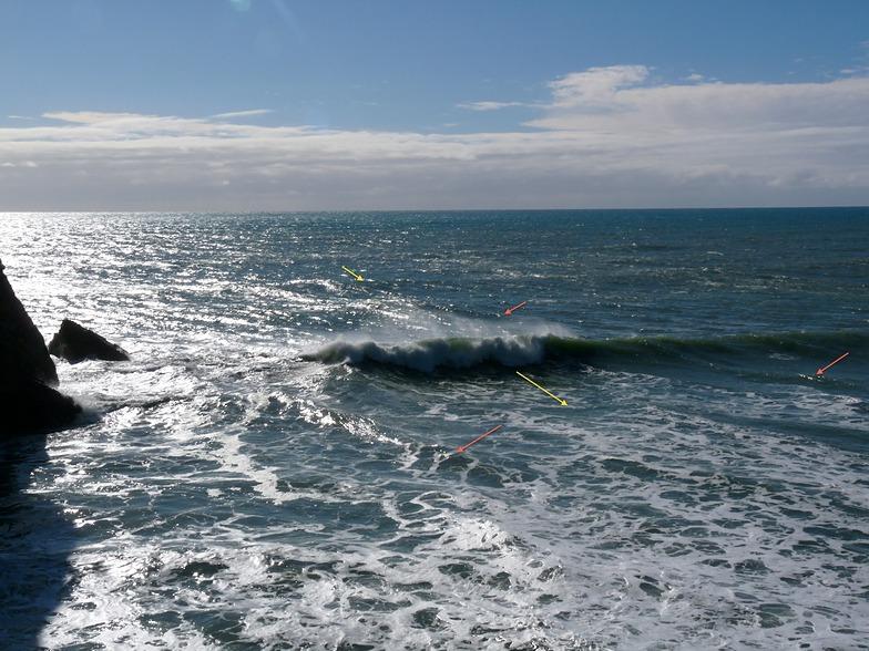 Two swells at Fletchers, Fletchers Beach