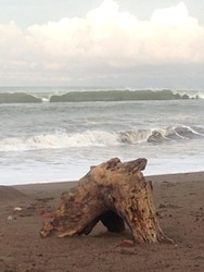 Frente al Bohio (3/8/14) aprox. 3-3.5 ft, Playa Jaco photo
