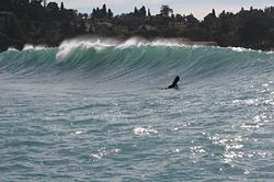 Left section of the wave on a medium size day., Villefranche sur Mer photo